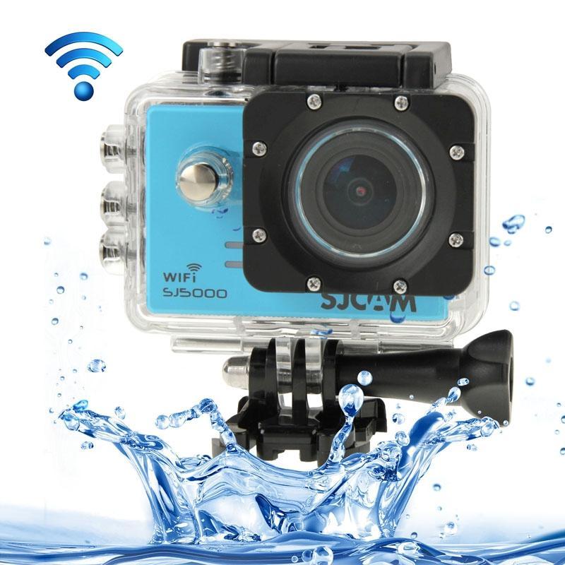 SJCAM SJ5000 Novatek Full HD 1080P 2.0 inch LCD scherm WiFi sport Camcorder Camera met waterdicht geval 14.0 Mega CMOS Sensor 30m Waterproof(Blue)