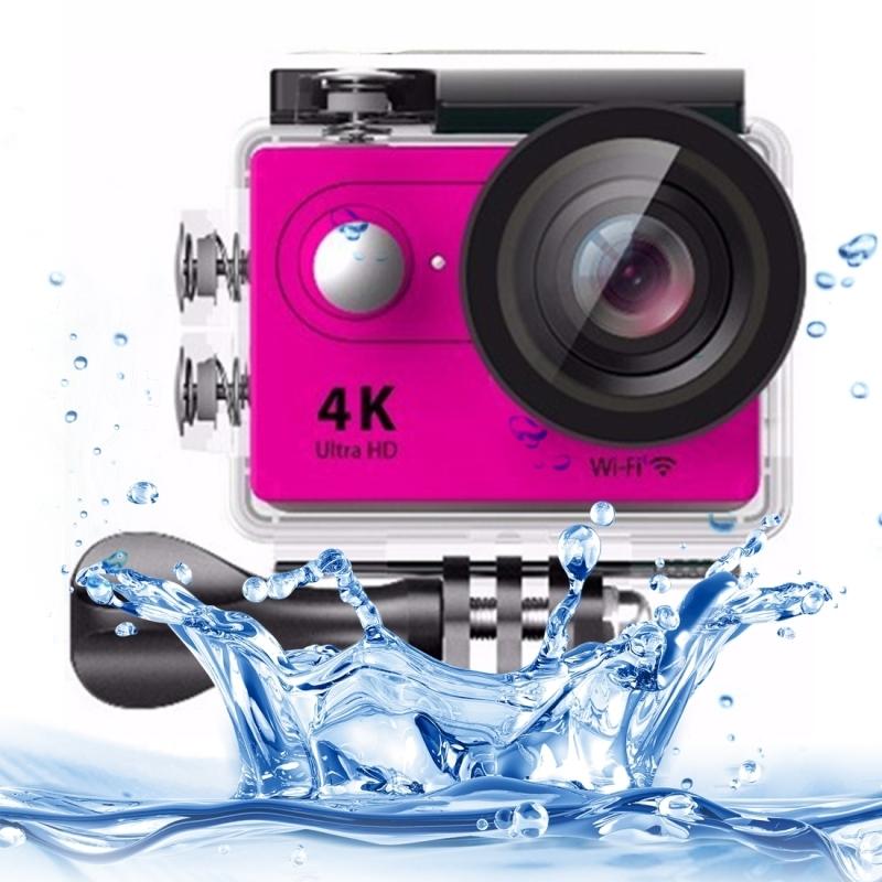 H9 4K Ultra HD1080P 12MP 2 inch LCD scherm WiFi Sport Camera, 170 graden brede hoeklens, 30m Waterdicht(roze)