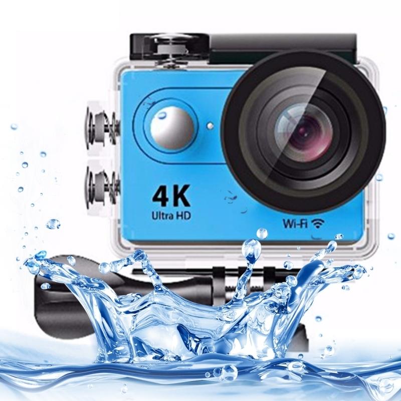 H9 4K Ultra HD1080P 12MP 2 inch LCD scherm WiFi Sport Camera, 170 graden brede hoeklens, 30m Waterdicht(blauw)
