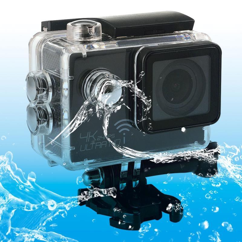 SJ8000 WiFi Novatek 96660 Ultra HD 4K 2.0 inch LCD sport Camcorder met waterdichte geval 170 graden brede hoeklens 30m Waterproof(Black)
