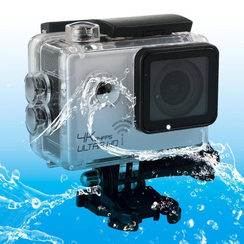 SJ8000 WiFi Novatek 96660 Ultra HD 4K 2.0 inch LCD sport Camcorder met waterdichte geval 170 graden brede hoeklens 30m Waterproof(White)
