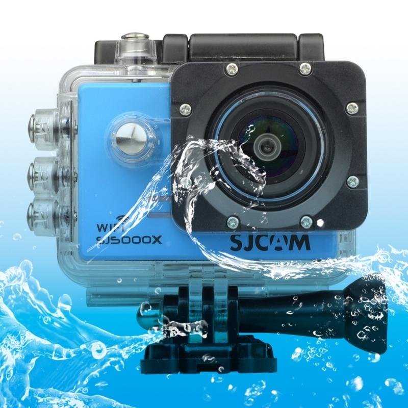 SJCAM SJ5000X WiFi Ultra HD 2K 2.0 inch LCD sport Camcorder met waterdichte geval 170 graden brede hoeklens 30m Waterproof(Blue)