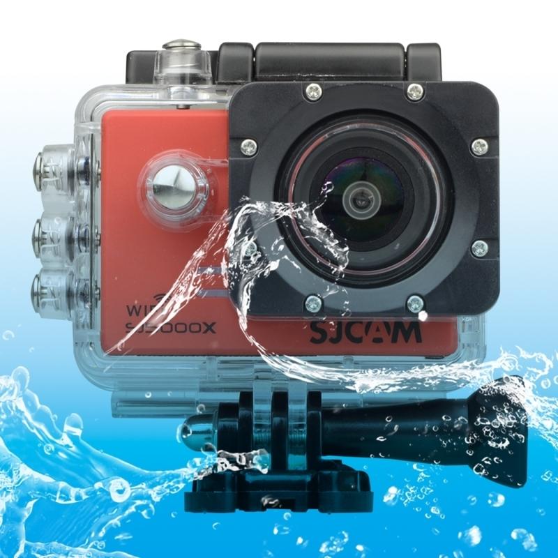 SJCAM SJ5000X WiFi Ultra HD 2K 2.0 inch LCD sport Camcorder met waterdichte geval 170 graden brede hoeklens 30m Waterproof(Red)