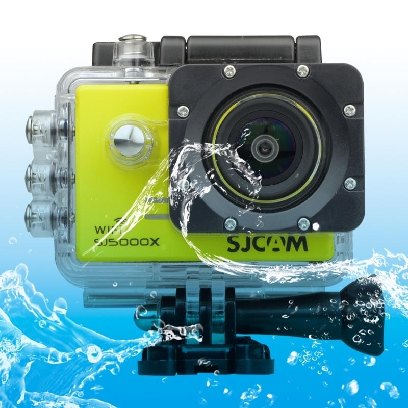 SJCAM SJ5000X WiFi Ultra HD 2K 2.0 inch LCD sport Camcorder met waterdichte geval 170 graden brede hoeklens 30m Waterproof(Yellow)