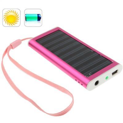 Afbeelding van 1350mAh Solar Charger voor mobiele telefoon digitale camera PDA MP3/MP4 speler (Magenta)