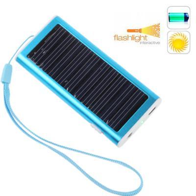 Afbeelding van 1350mAh Solar Charger voor mobiele telefoon digitale camera PDA MP3/MP4 Player(Baby Blue)