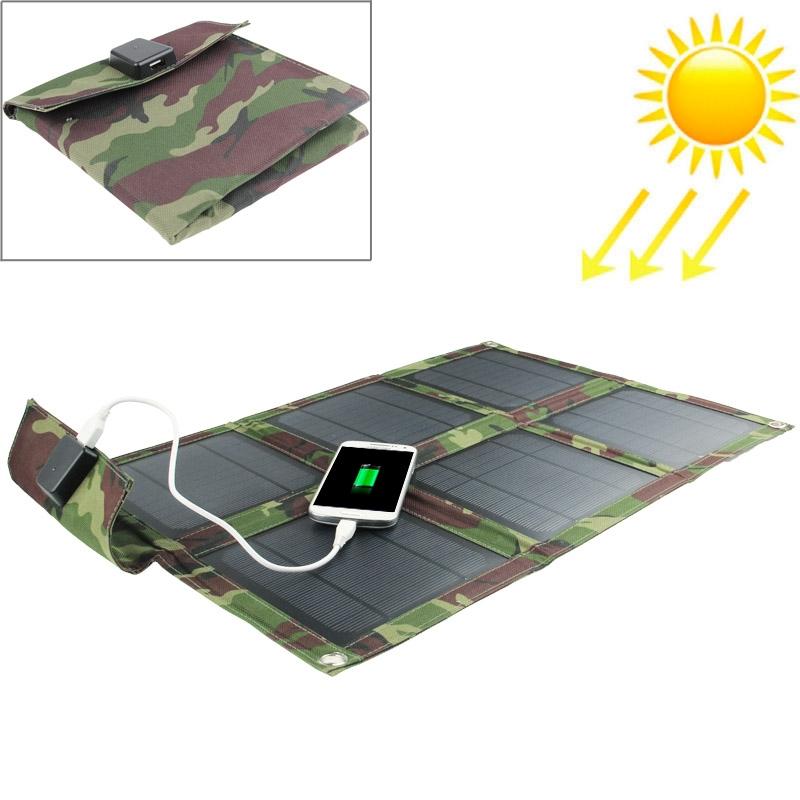 Afbeelding van 15W Portable Folding zonnepaneel / Solar Charger Bag voor Laptops / mobiele telefoons