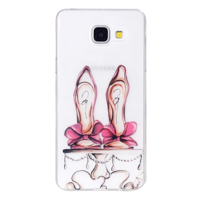 For Galaxy A3 (2016) / A310 Red High-heel Shoes Pattern IMD Workmanship Soft TPU Protective Case