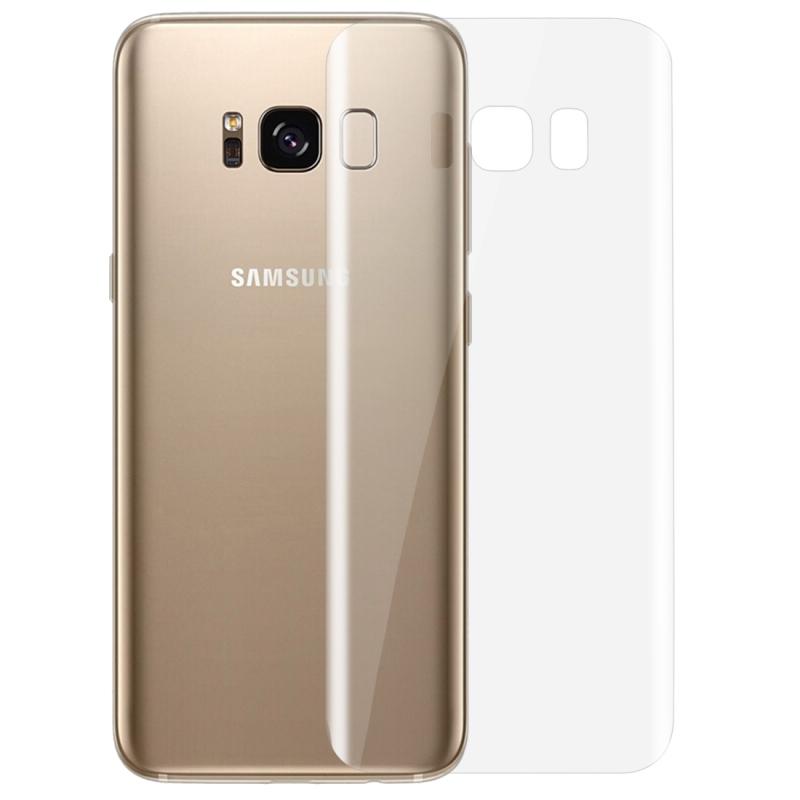 Afbeelding van 0.1mm HD 3D gebogen PET terug Full Screen Protector voor Galaxy S8 + / G955(Transparent)