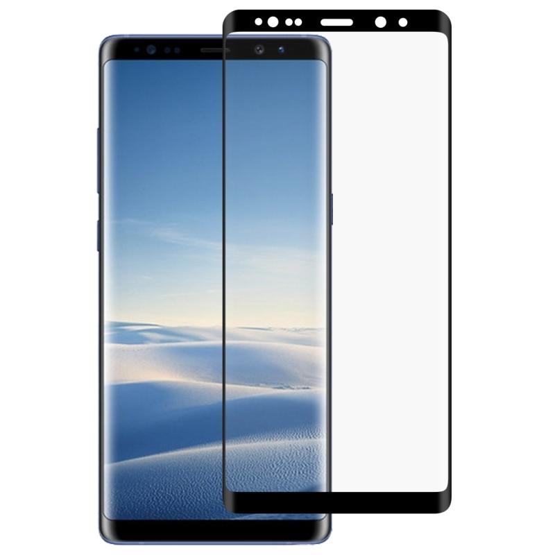 Afbeelding van 0.3mm 9H oppervlaktehardheid 2.5D gekromde rand volledig scherm vol lijm gehard glas Film voor Galaxy Note8(Black)