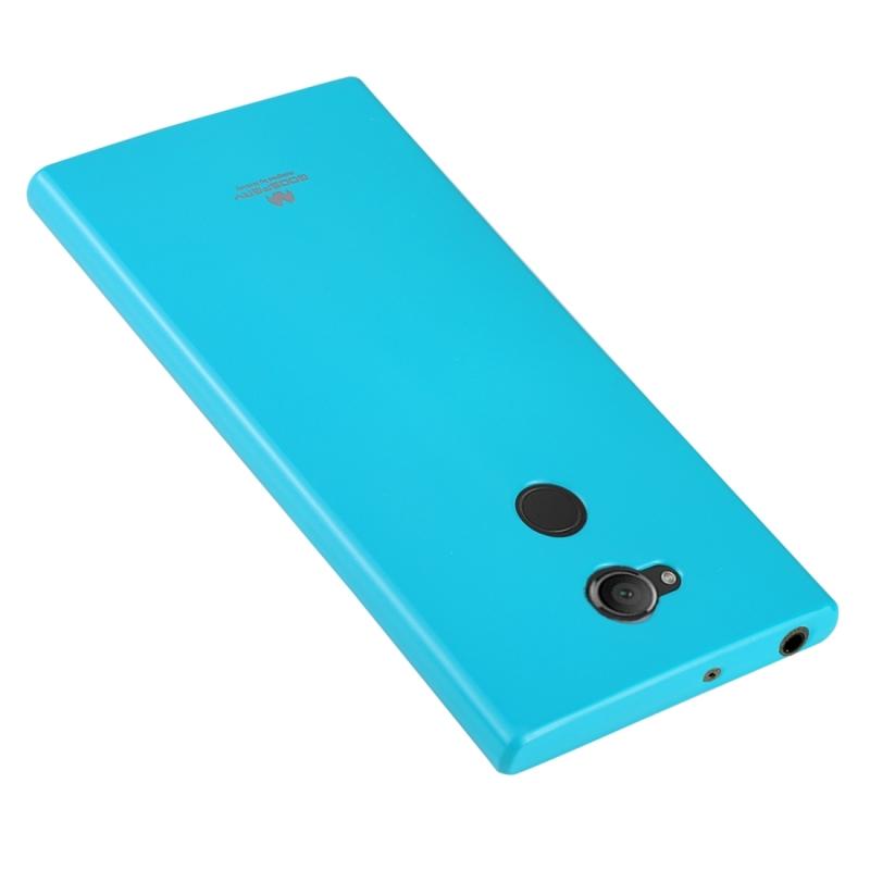 MERCURY GOOSPERY PEARL JELLY serie voor Sony Xperia XA2 TPU volledige beschermende Back Cover Case (Baby blauw)