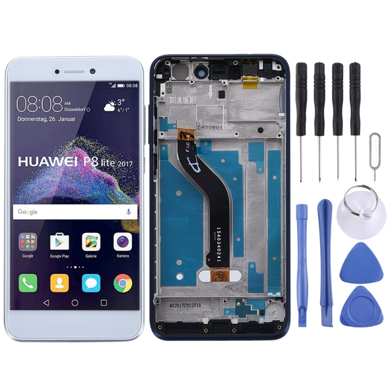LCD Screen and Digitizer Full Assembly with Frame for Huawei Honor 8 Lite(White)