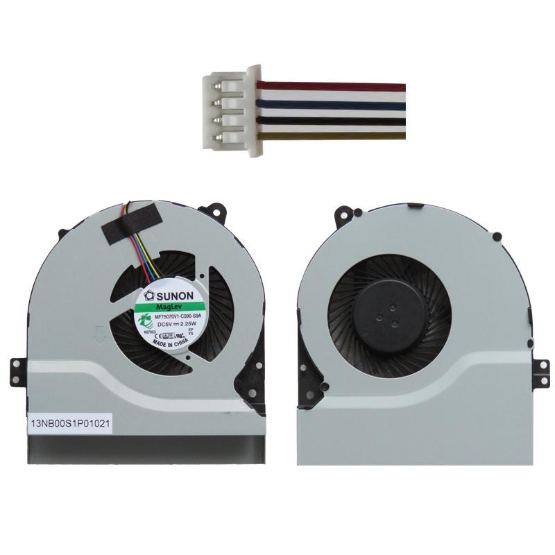 Afbeelding van 1.56W laptop Radiator Cooling Fan CPU koelventilator voor ASUS X550V / X450