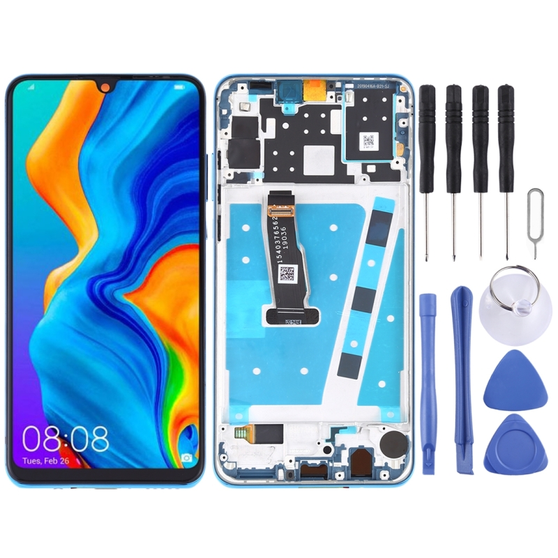 LCD Screen and Digitizer Full Assembly with Frame for Huawei P30 Lite / Nova 4e (Blue)