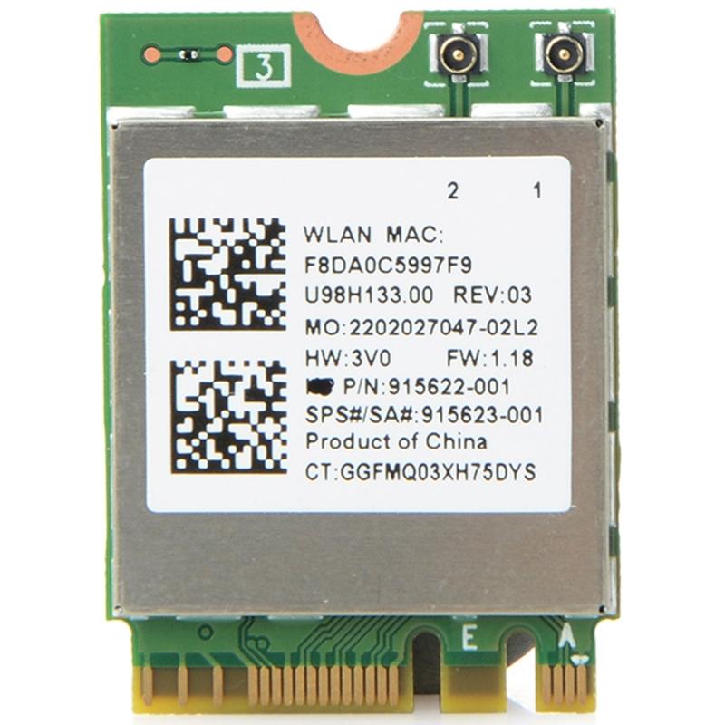 Afbeelding van RTL8822BE Dual Band AC 433M-Card Bluetooth 4.0 draadloos netwerkadapter netwerkadapterkaart voor Dell / ASUS / Toshiba / Sony / Acer