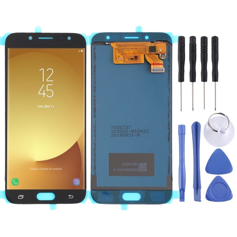 LCD Screen and Digitizer Full Assembly (TFT Material ) for Galaxy J7 (2017)  J730F/DS  J730FM/DS(Black)
