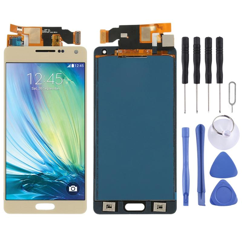 LCD Screen and Digitizer Full Assembly (TFT Material) for Galaxy A5  A500F  A500FU  A500M  A500Y  A500YZ (Gold)