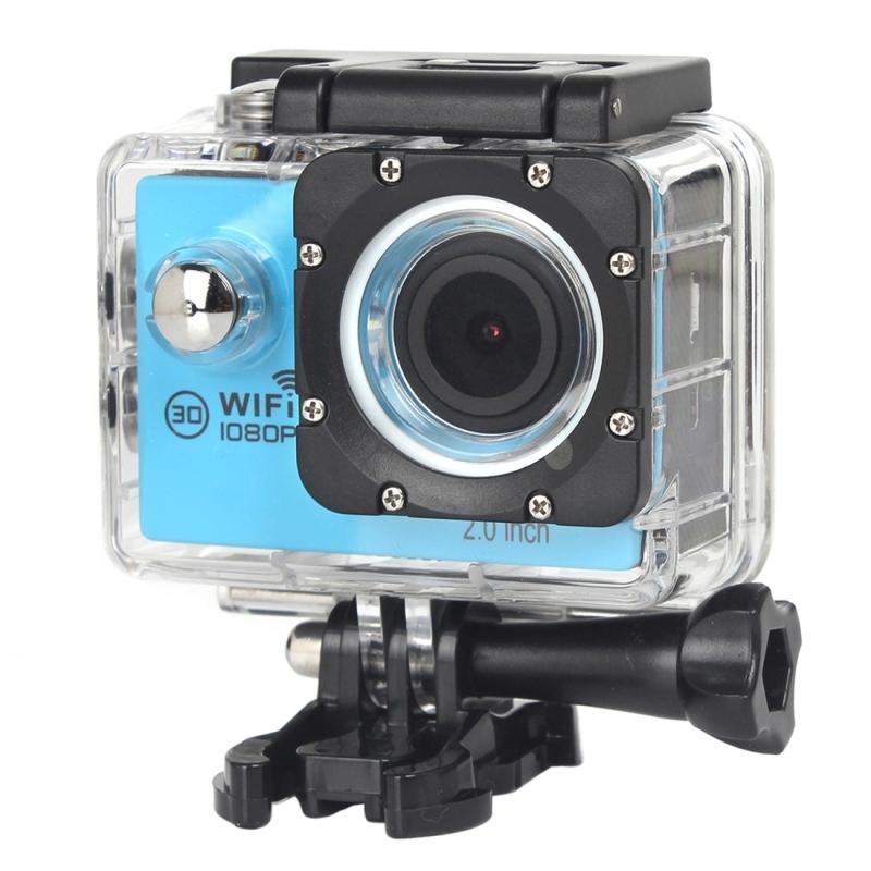 H16 1080P draagbare WiFi Waterdicht Sport Camera, 2.0 inch scherm, Generalplus 4248, 170 A + graden brede hoeklens, steun TF Card(blauw)