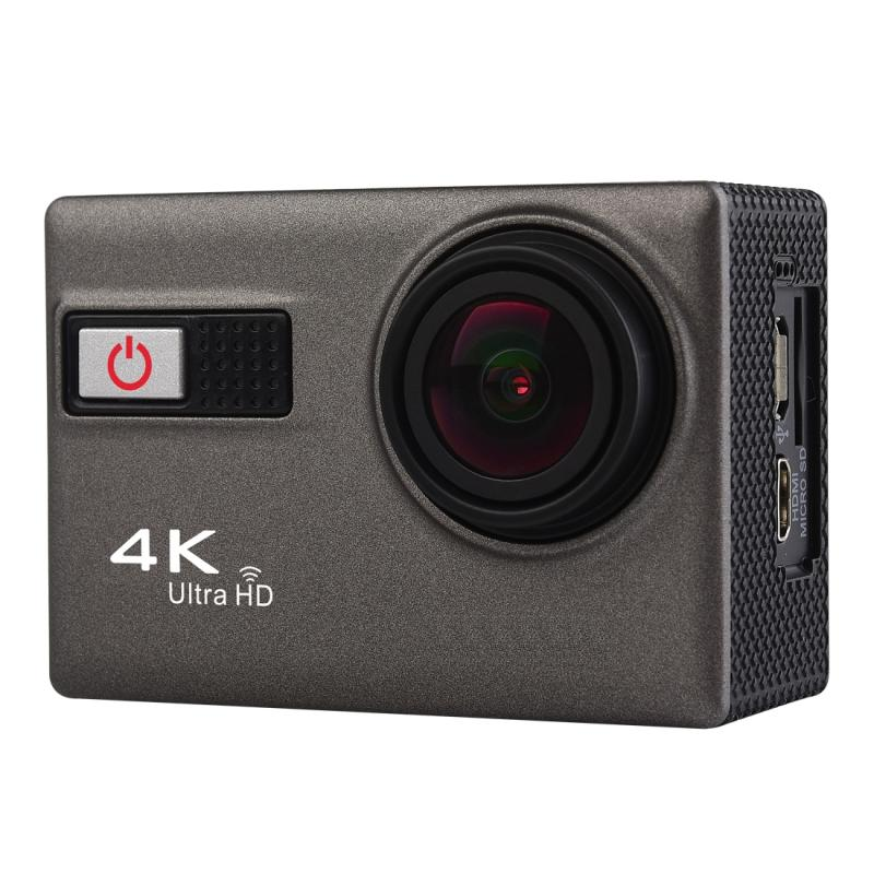 F68R 4K draagbare WiFi Waterdicht Sport Camera met Remote Control afstandsbediening,, 2.0 inch scherm, Novatek 96660, 170 A + graden brede hoeklens, Water Resistant Diepte: 30m(grijs)