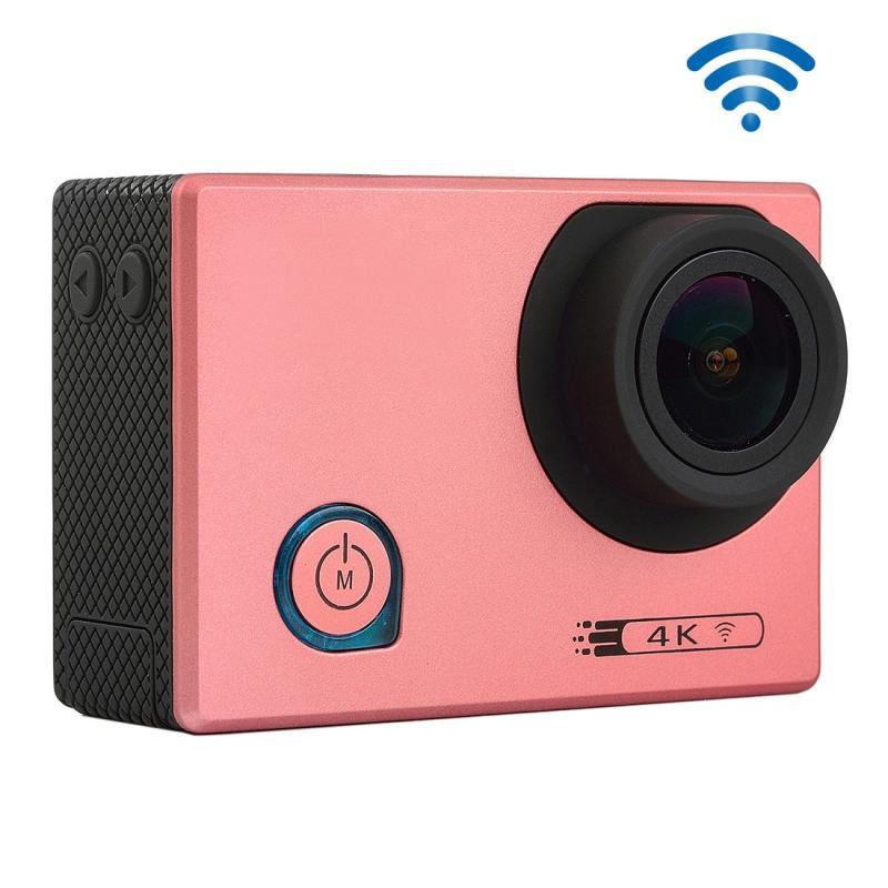 F80 4K draagbare WiFi Waterdicht StarVision Sport Camera, 2.0 inch scherm, Novatek 96660, 170 graden brede hoeklens, Support TF-Card / HDMI(roze)