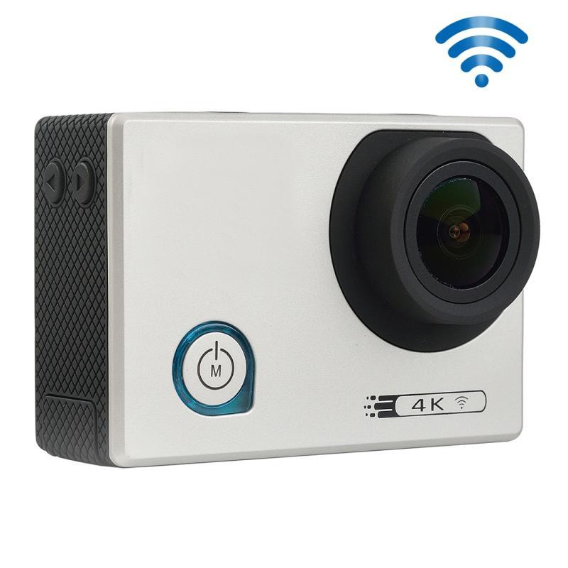 F80 4K draagbare WiFi Waterdicht StarVision Sport Camera, 2.0 inch scherm, Novatek 96660, 170 graden brede hoeklens, Support TF-Card / HDMI(zilver)