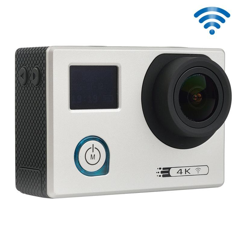 F88 4K draagbare WiFi Waterdicht StarVision Sport Camera, 0,66 inch LED & 2.0 duim LCD, Novatek 96660, 170 graden brede hoeklens, Support TF-Card / HDMI (zilver)