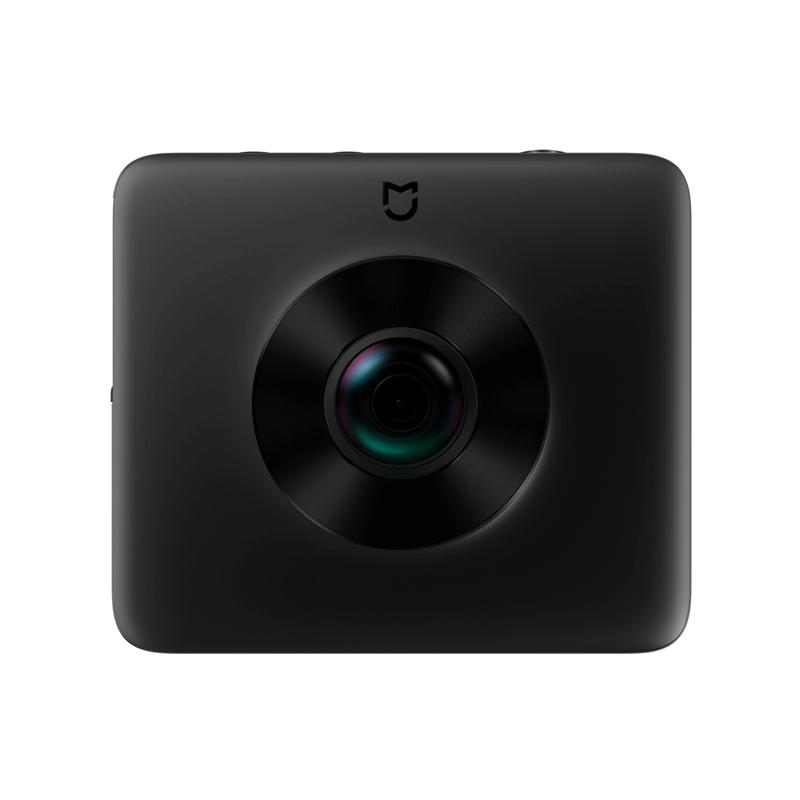 Originele Xiaomi Jiami VR Camera Dual Lens 23.88MP Sensor 3.5 K opname Video 6-assige Anti-Shake 360 graden panorama Camera met statief houder Ambarella A12 steun WiFi Bluetooth(Black)