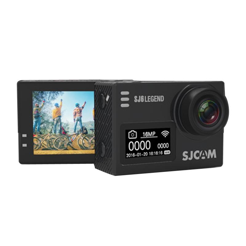 SJCAM SJ6 LEGEND 4 K 2.0 inch Touch Screen 16.0MP WiFi sport Camcorder met waterdichte geval Novatek NT96660 programma 166 graden brede hoeklens 30 m Waterproof(Black)