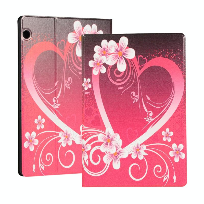 For Huawei T5 10.1 Inch Painted Pattern Left And Right Open Flat Bracket Leather Case(Love)