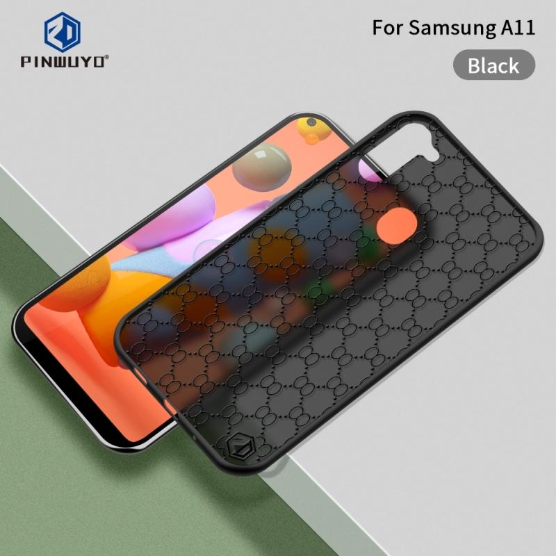 Voor Samsung Galaxy A11(U.S) PINWUYO Series 2 Generation PC + TPU waterdicht en anti-drop all-inclusive beschermhoes(Zwart)
