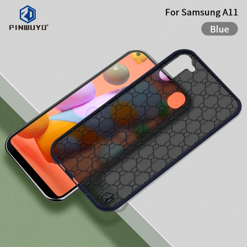Voor Samsung Galaxy A11(U.S) PINWUYO Series 2 Generation PC + TPU waterdicht en anti-drop all-inclusive beschermhoes(Blauw)