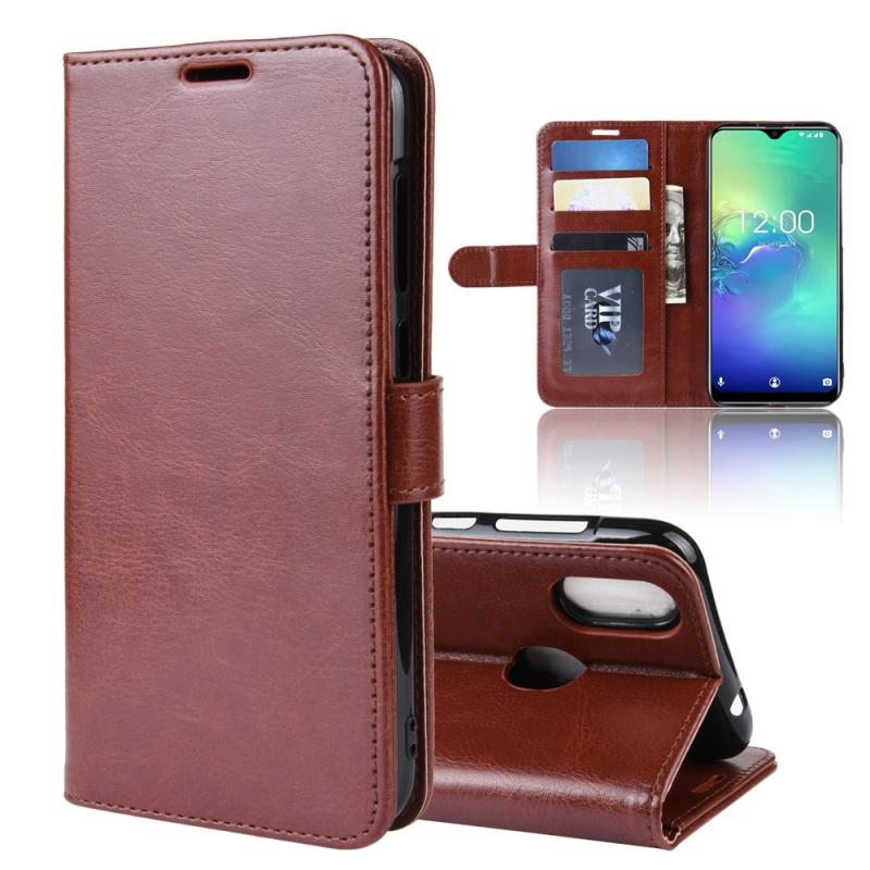 R64 Texture Single Fold Horizontal Flip Leather Case for Oukitel C15 Pro  with Holder & Card Slots & Wallet(Brown)