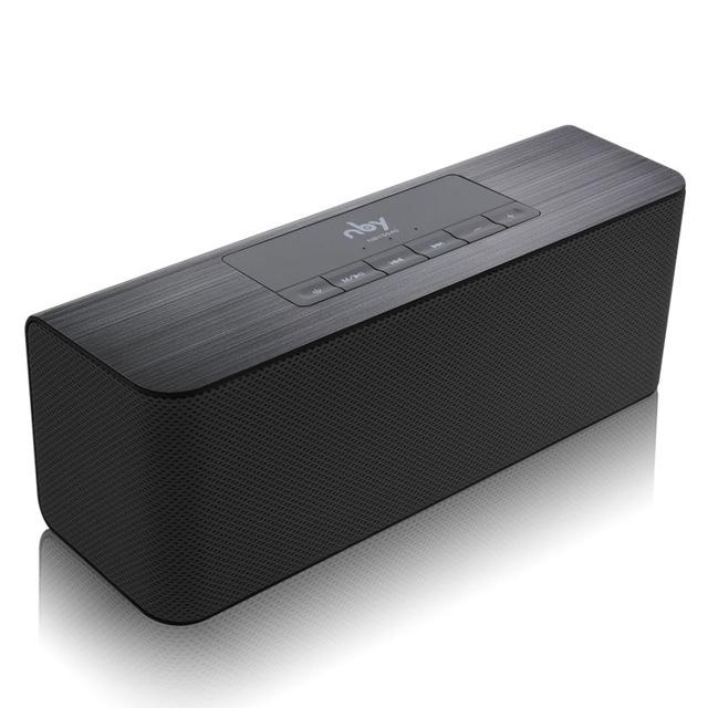 Afbeelding van NBY 5540 Bluetooth Speaker Portable Wireless Speaker High-Definition dual speakers met mic TF kaart luidsprekers MP3-speler (zwart)