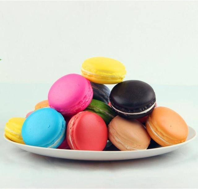 Afbeelding van 5 stuks simulatie Macaron doen alsof speelgoed Macaron voedsel super langzaam Rising Kid Toy decompressie speelgoed doen alsof speelgoed (willekeurige kleur)
