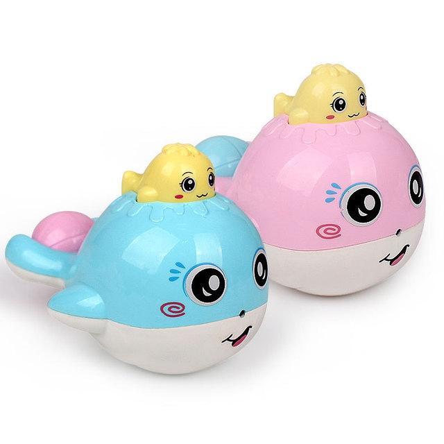 Afbeelding van Cute Bad speelgoed voor baby Candy kleur plastic walvis kamer bed wieg rammelaar baby speelgoed grappig speelgoed (willekeurige kleur)