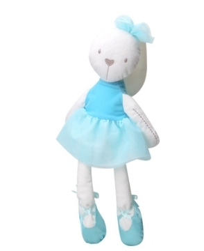 Afbeelding van Bunny pluche speelgoed zachte gevulde dieren konijn Doll speelgoed voor kinderen kind slapen mate baby sussen speelgoed (blauw)