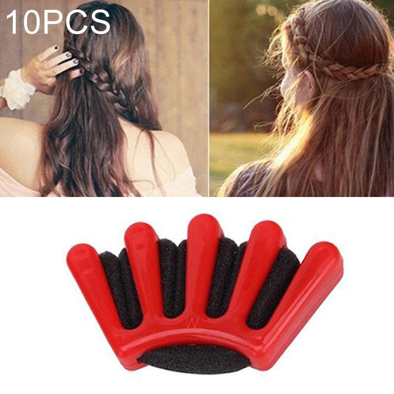 Afbeelding van 24 stuks haar vlecht stijl spons vlecht haar twist styling vlechten tool Holder clip (rood)