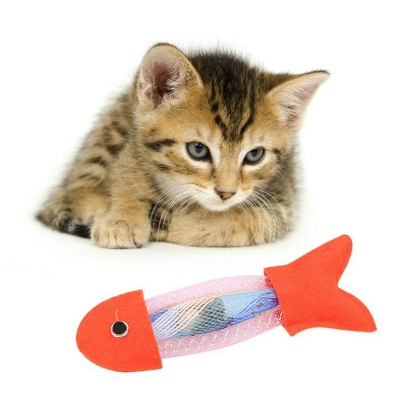 Afbeelding van 3 PC'S kat hond voorjaar vis speelgoed kat Bouncing speelgoed huisdieren producten (Orange)