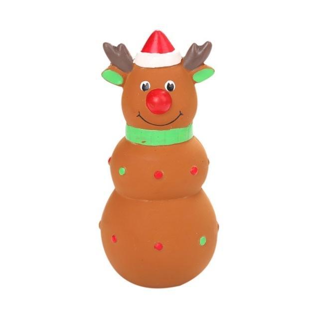 Afbeelding van Kerstboom Kerstman huisdier pluche speelgoed hond speelgoed kauwen squeaker schattig bijten touw geluid speelgoed (elk)