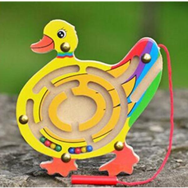 Afbeelding van Educatieve houten speelgoed voor kinderen vroeg leren doolhof labyrint dier vorm spel speelgoed