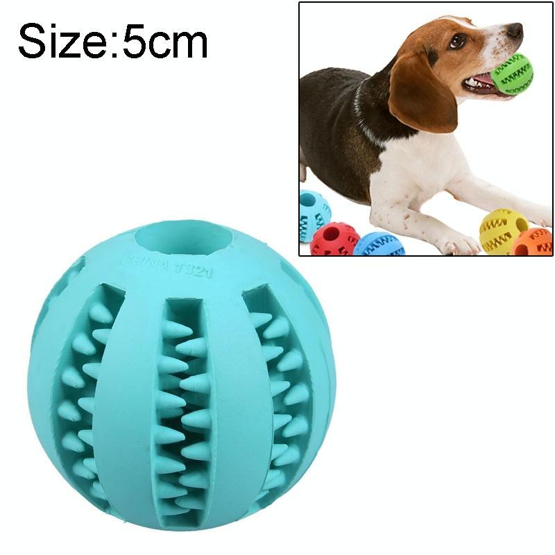 Afbeelding van Hond huisdier speelgoed interactieve Rubber ballen hond kat Puppy elasticiteit tanden bal hond kauwen speelgoed tand schoonmaken ballen speelgoed voor honden grootte: 5 cm (lichtblauw)