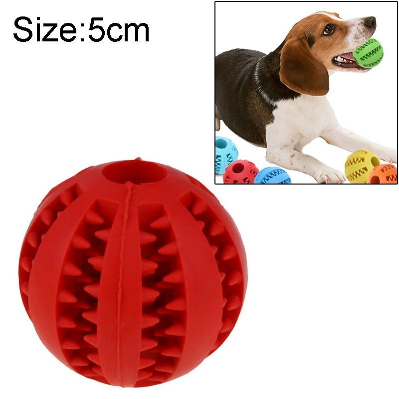 Afbeelding van Hond speelgoed interactieve Rubber ballen huisdier hond kat Puppy elasticiteit tanden bal hond speelgoed tand schoonmaken ballen speelgoed kauwen voor honden grootte: 5 cm(Red)