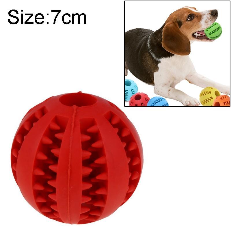 Afbeelding van Hond speelgoed interactieve Rubber ballen huisdier hond kat Puppy elasticiteit tanden bal hond speelgoed tand schoonmaken ballen speelgoed kauwen voor honden grootte: 7 cm(Red)