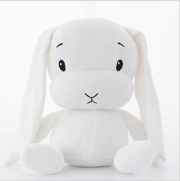 Afbeelding van Blijf schattig konijn pluche speelgoed konijn Doll Baby Sleep Toy hoogte: 30CM (wit)