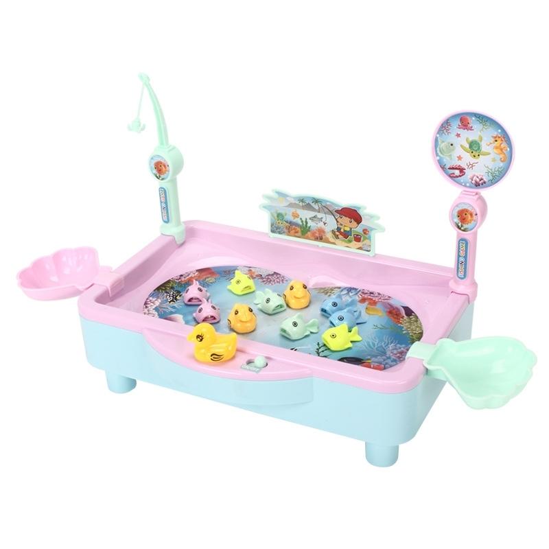 Afbeelding van 3 sets kinderen speelgoed elektrische vissen van educatief speelgoed Hengelsport kleur willekeurige levering