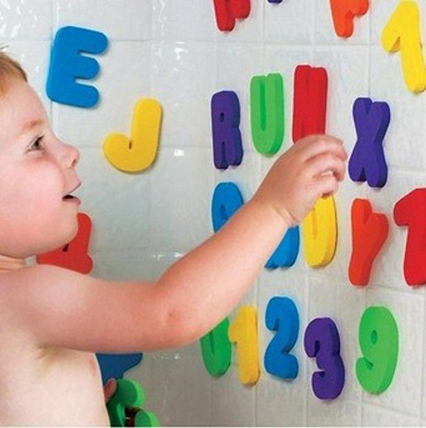 Afbeelding van 36pcs/set alfanumerieke letter puzzel baby bad speelgoed zachte EVA Kids baby water speelgoed voor badkamer vroege educatieve zuigen speelgoed