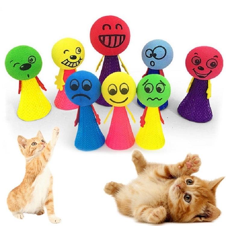 Afbeelding van 3 STKS huisdier speelgoed EVA uitdrukking voorjaar bal kat speelgoed bal (willekeurige kleur levering)