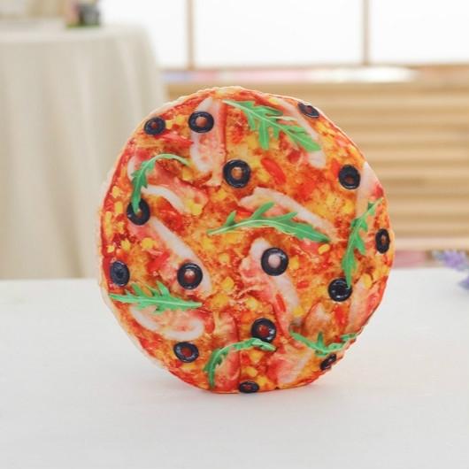 Afbeelding van Simulatie voedsel pluche kussen gevuld speelgoed pluche koekjes pizza Hamburger kussen grappig speelgoed voor kinderen meisjes verjaardag geschenken (pizza)