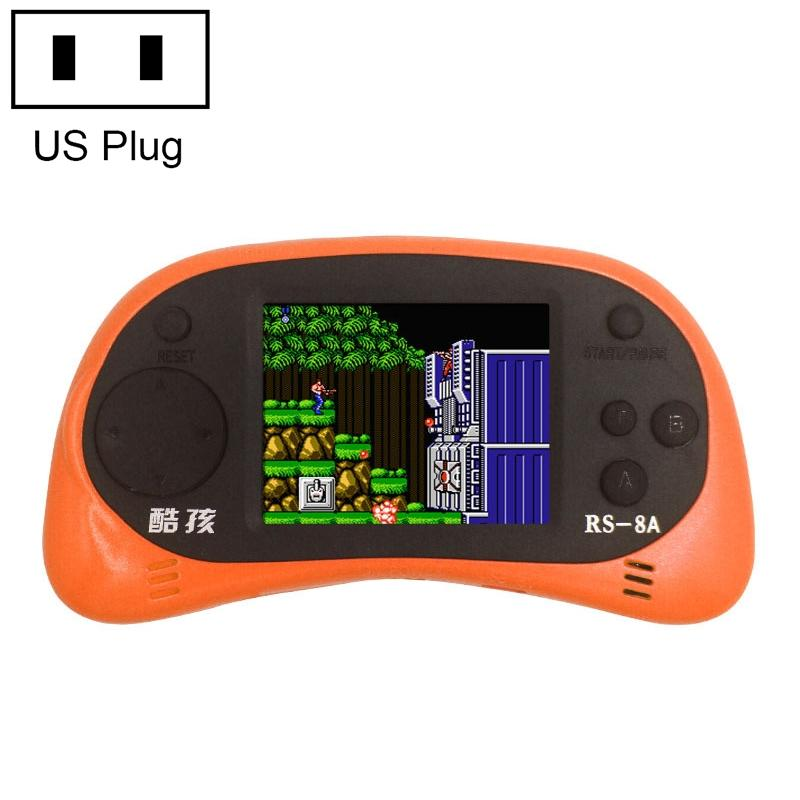 Afbeelding van CoolBaby RS-8A 260 in 1 Classic Games Retro Mini Handheld Game Console met 2.5 inch kleurenscherm steun AV Output ons Plug(Orange)
