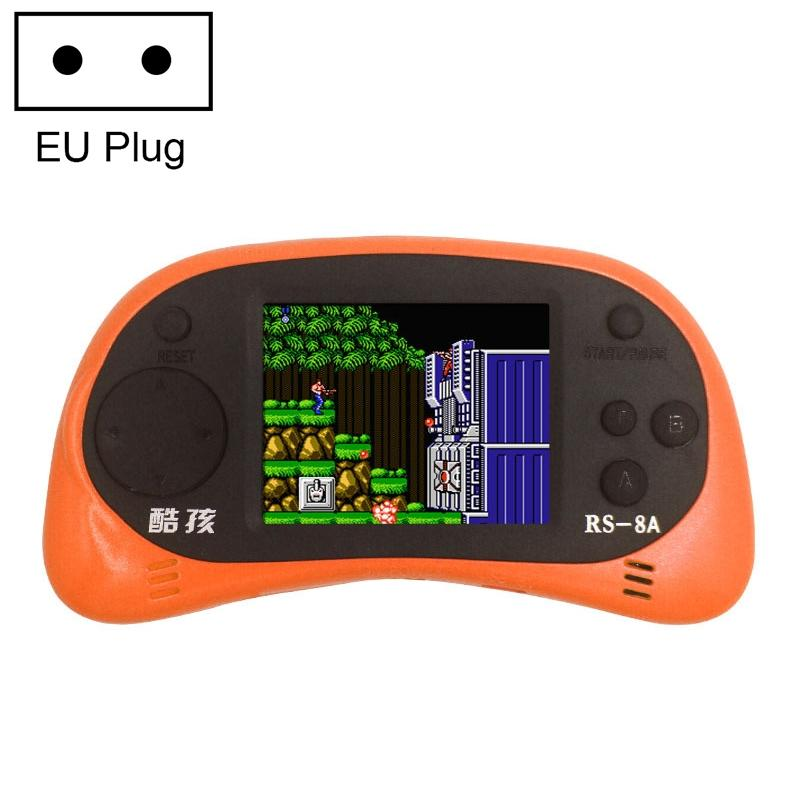 Afbeelding van CoolBaby RS-8A 260 in 1 Classic Games Retro Mini Handheld Game Console met 2.5 inch kleurenscherm steun AV Output EU Plug(Orange)